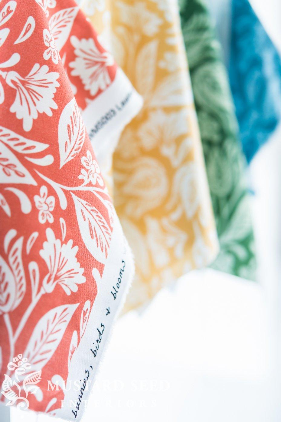 No Sew Custom Dinner Napkins Fabric Launch Miss Mustard Seed