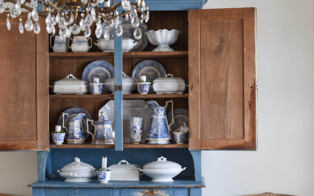 putting the dining room back together | craigslist cabinet update