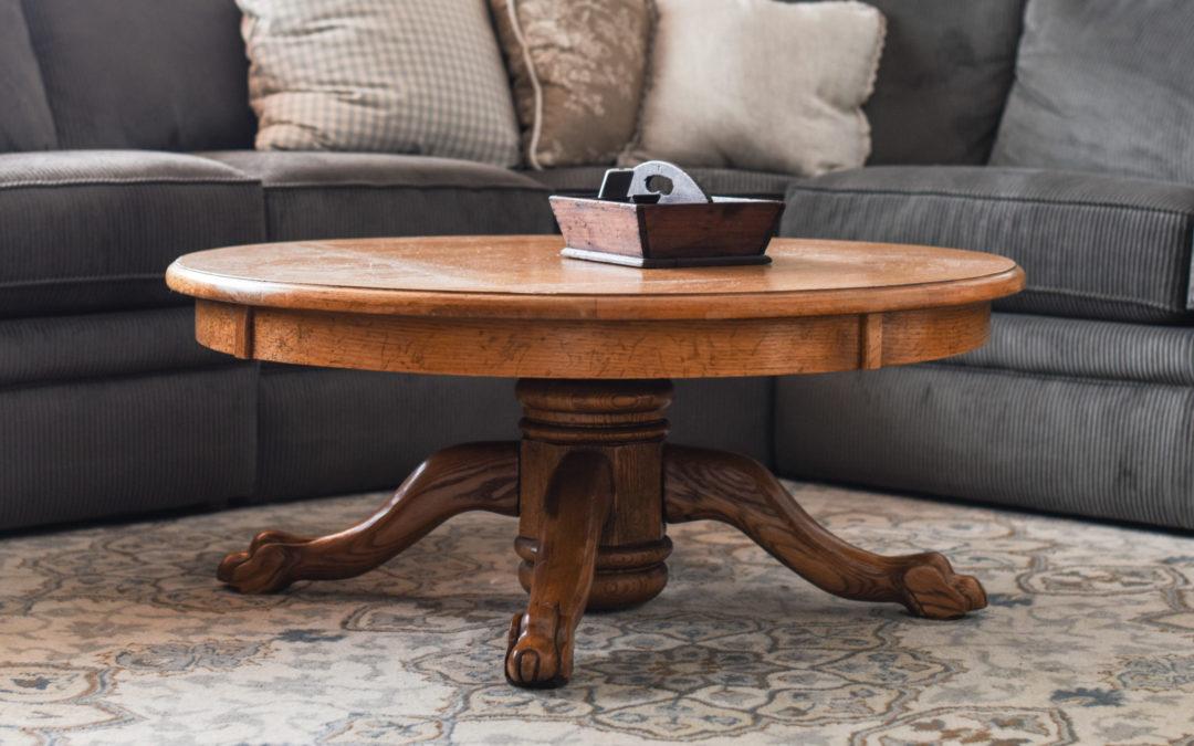 craigslist coffee table & playroom update