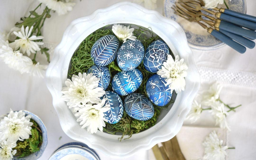 indigo pysanky egg tutorial