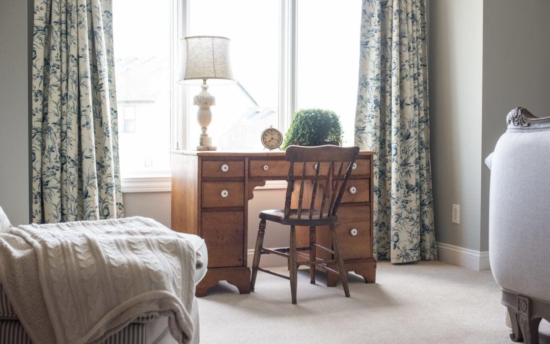 pine desk refresh