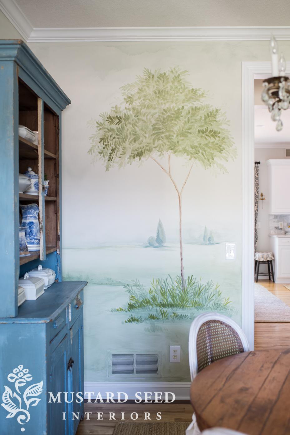 landscape mural | milk paint | miss mustard seed