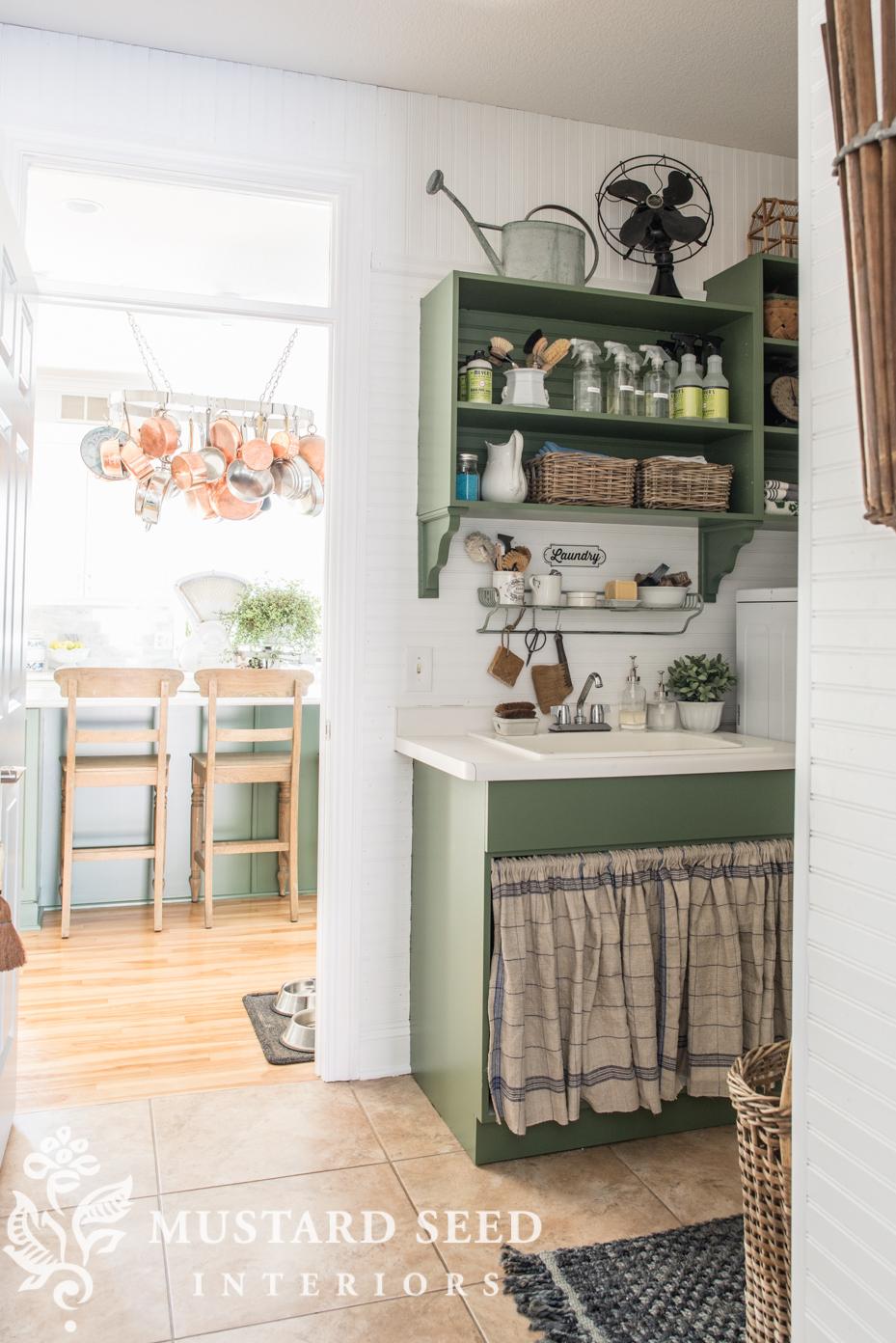 vintage style laundry room miss mustard seed