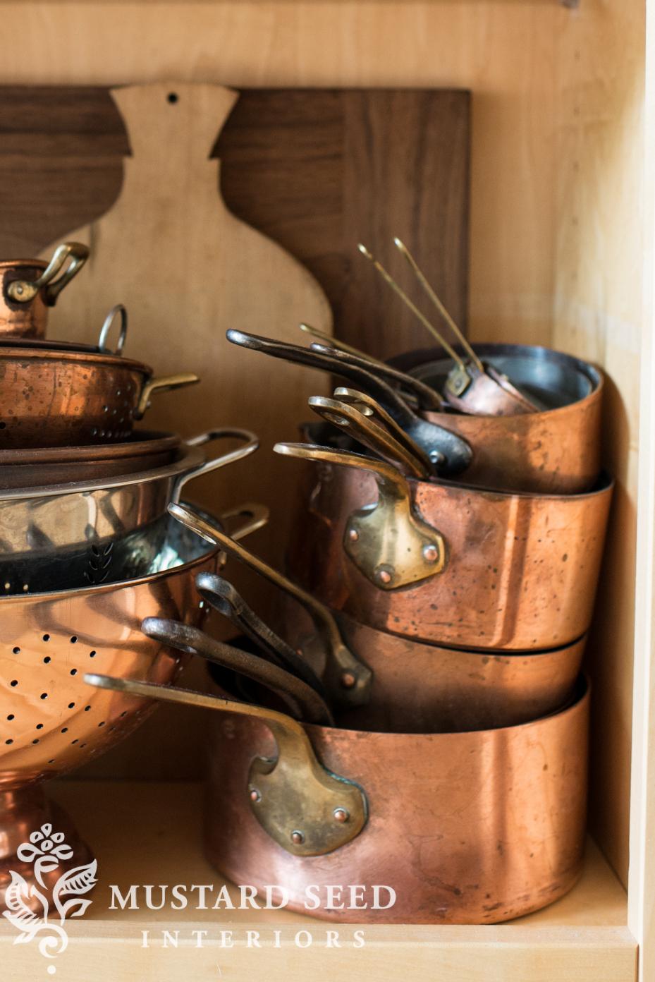 Miss Mustard Seed Retinned Copper Pots