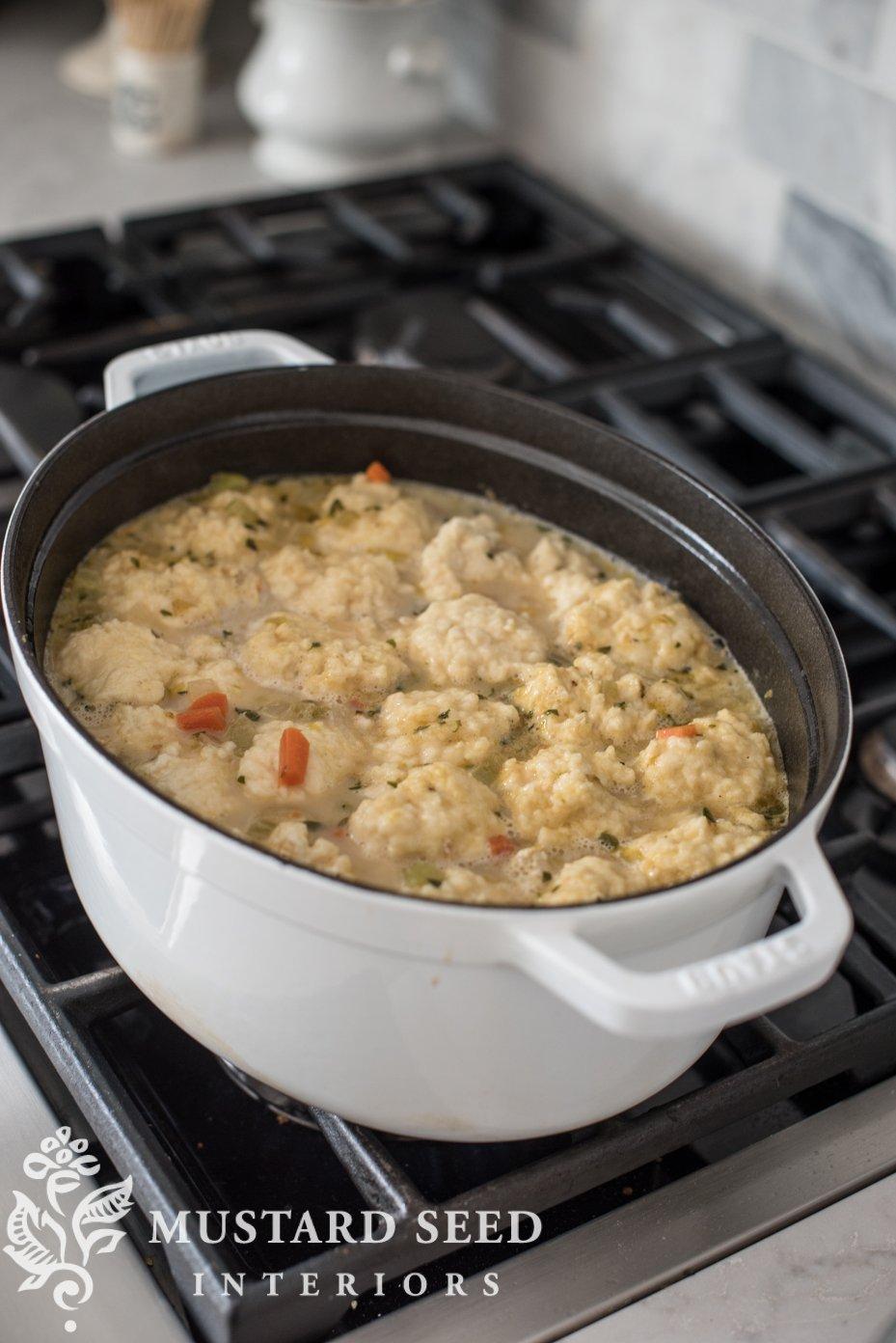 easy chicken and dumplings | homemade dumplings | missmustardseed.com