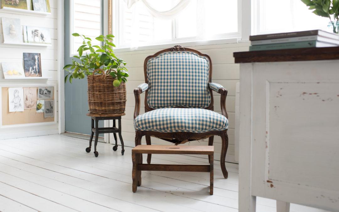 studio guest chair & art sale