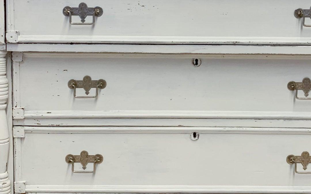 farmhouse white dresser makeover