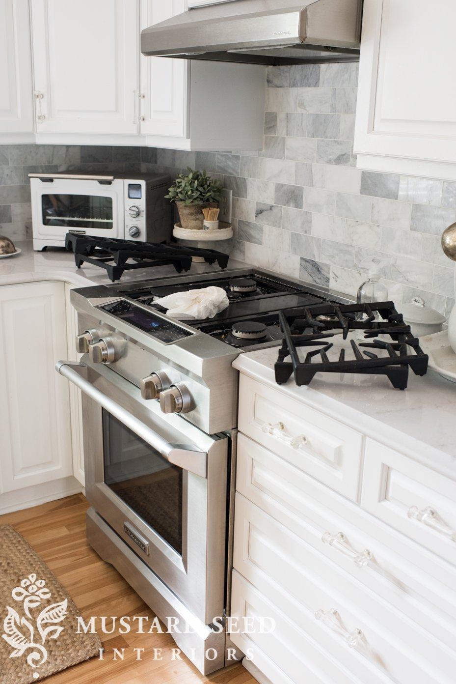 hanstone quartz monterey   kitchen counters   kitchen aid stove   miss mustard seed