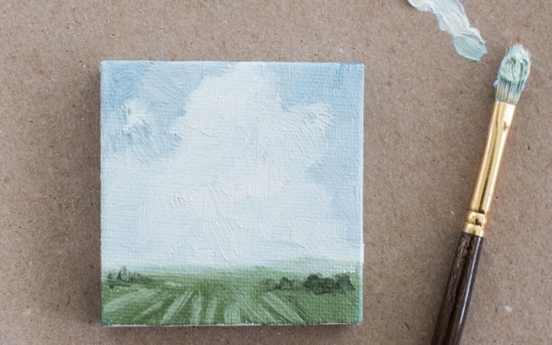 """mini landscape """"place cards"""" & a giveaway"""
