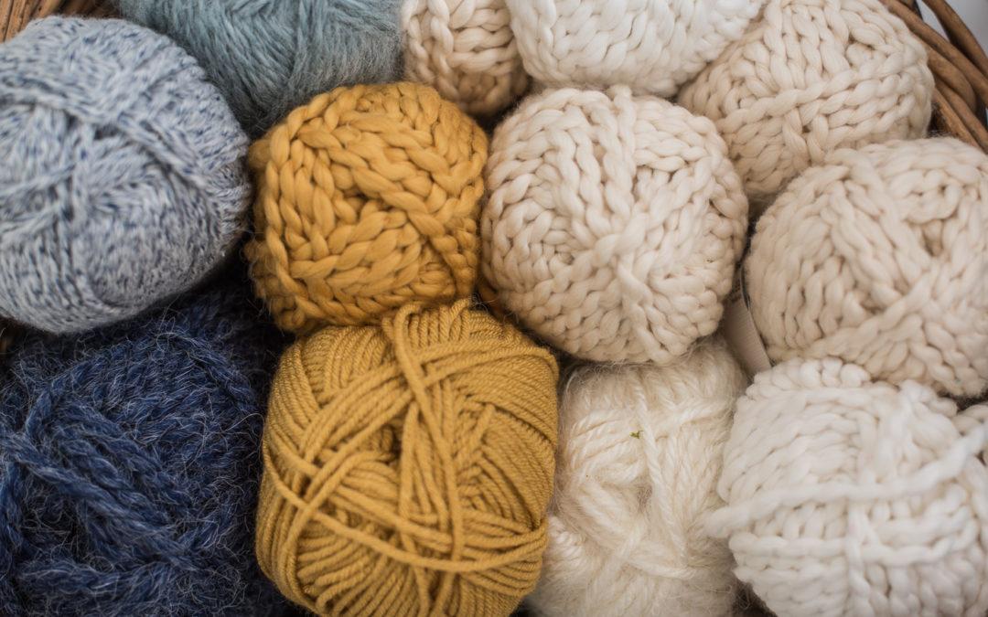 basket full of yarn & crochet update