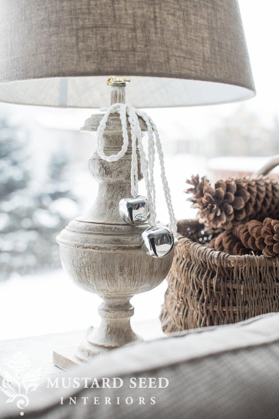 lamp tassels   decorate with sleigh bells   missmustardseed.com
