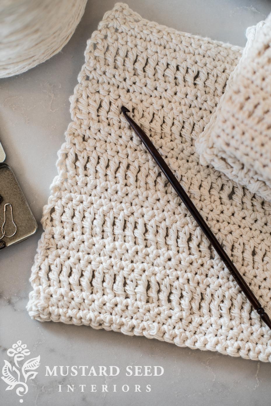 Crochet a dishcloth   miss mustard seed   missmustardseed.com