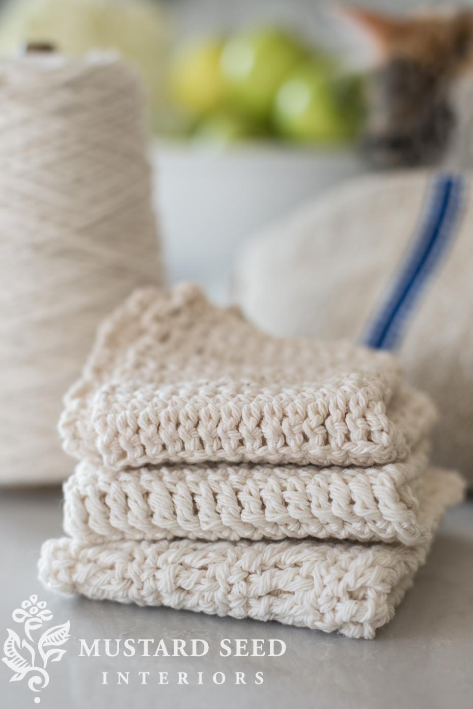 Crochet a dishcloth | miss mustard seed | missmustardseed.com