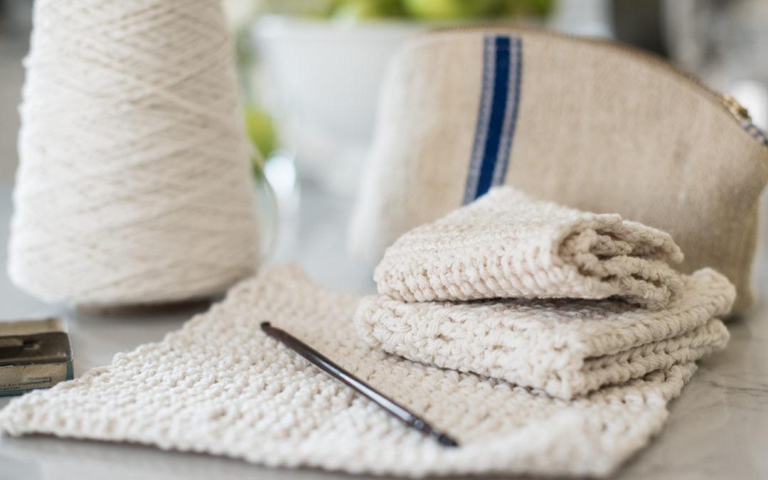 How to Crochet a farmhouse dishcloth (for beginners)