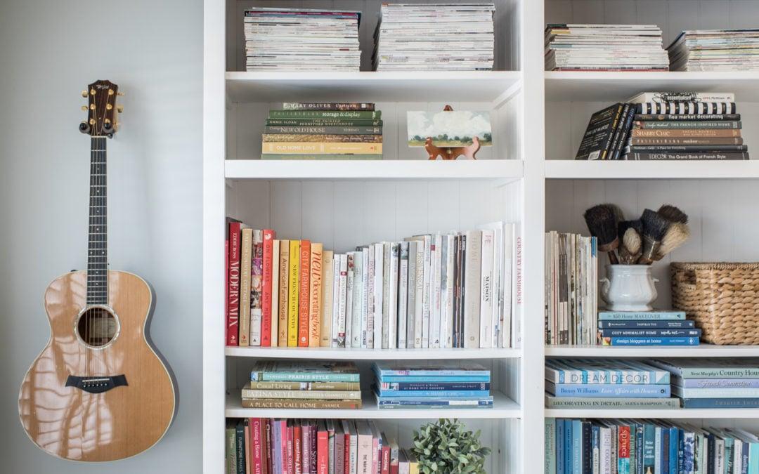 reworking the office shelves