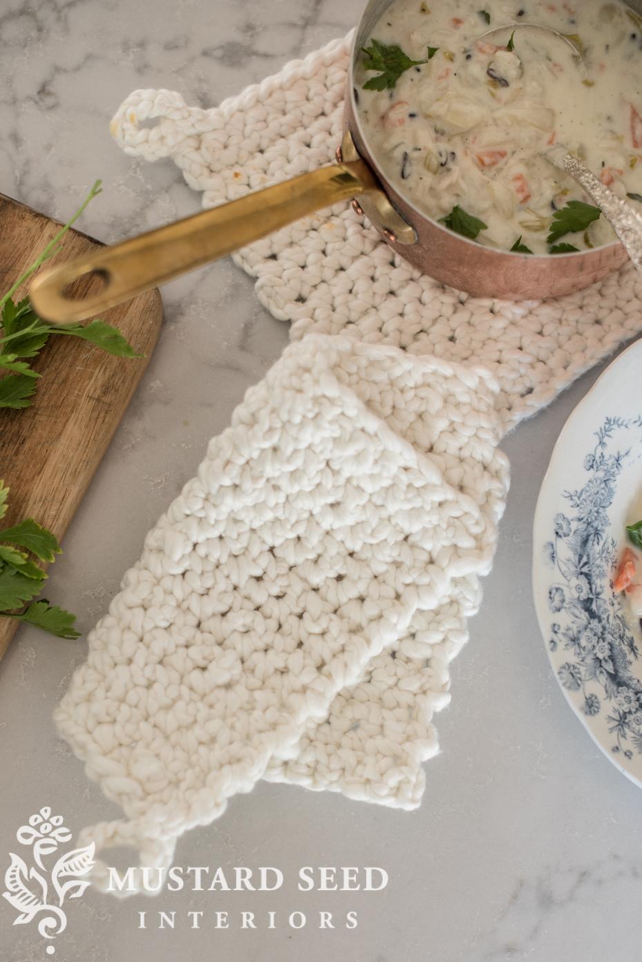 Crochet Potholder Tutorial For Beginners Miss Mustard Seed