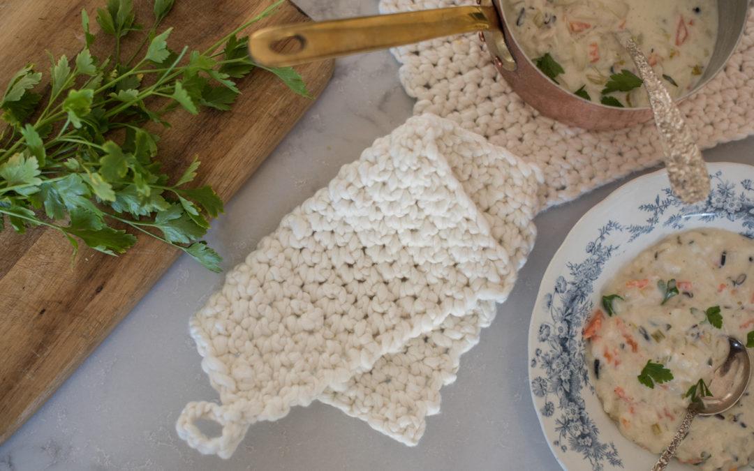 Crochet Potholder Tutorial for Beginners