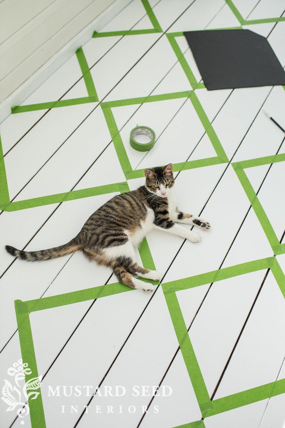 painting checkerboard floors | miss mustard seed