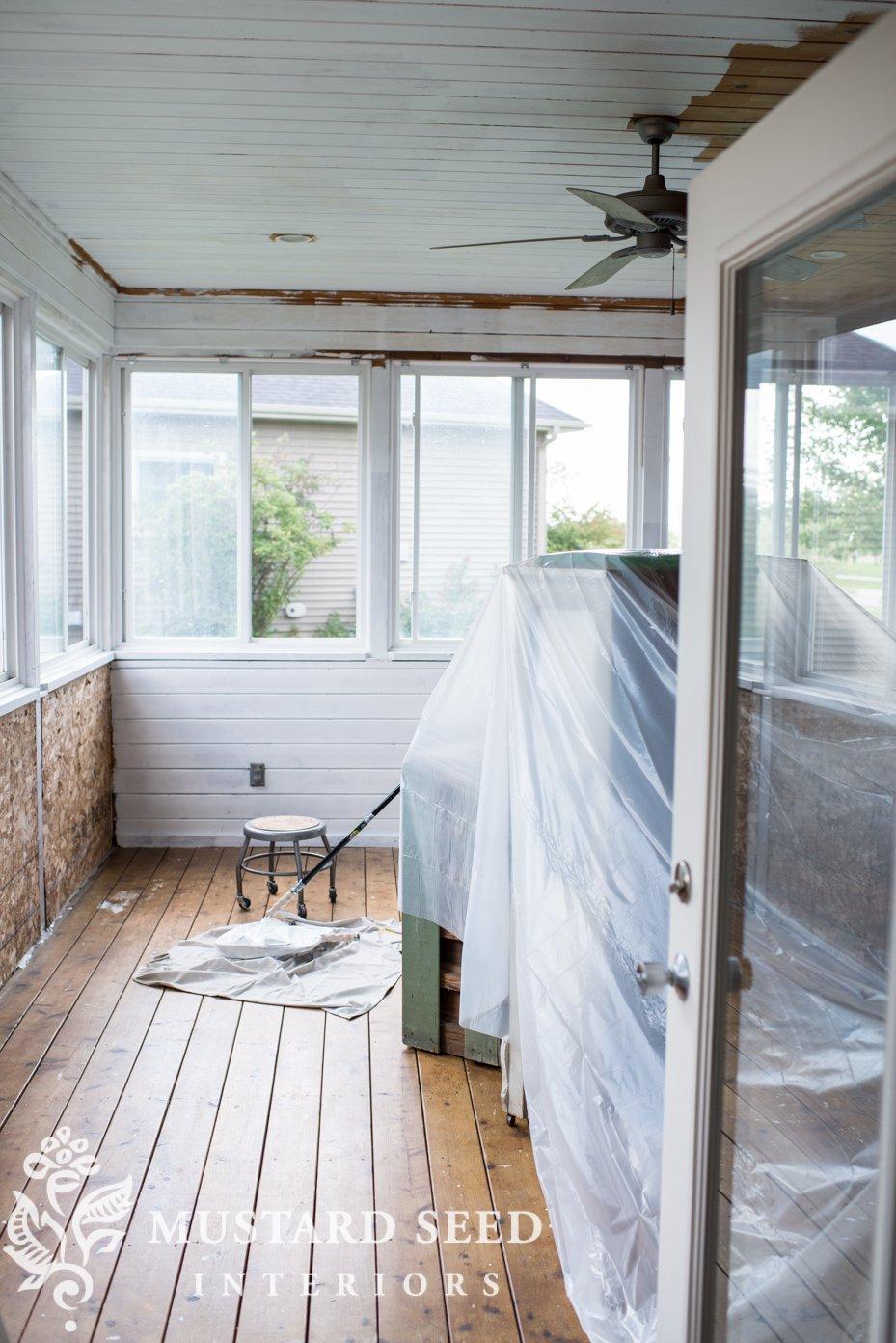 converting a sunroom into an art studio | miss mustard seed