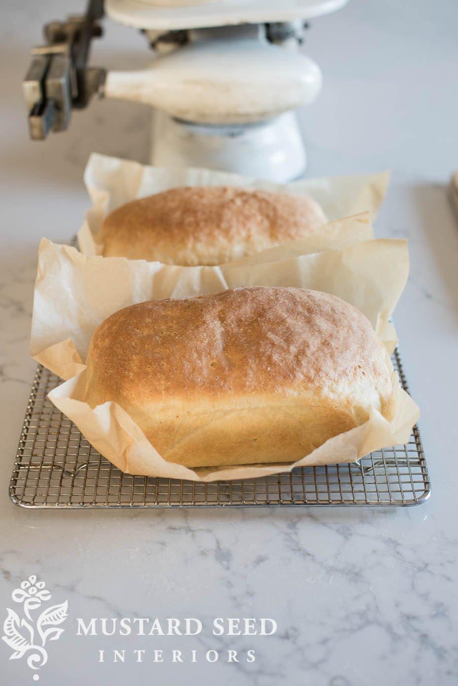 basic white bread recipe | bread baking tips | miss mustard seed