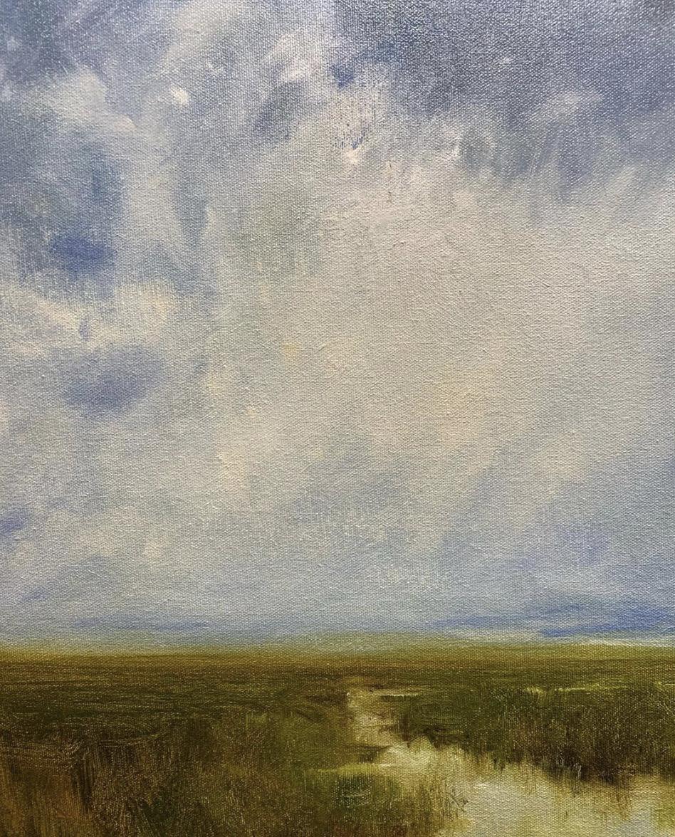 megan gray fine art | clouds over marsh | miss mustard seed