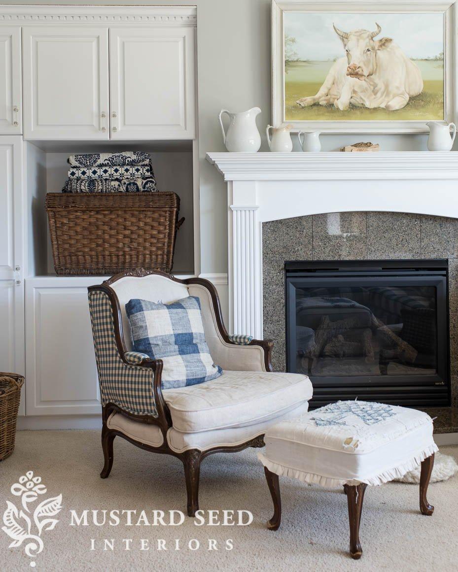 granite fireplace surround before painting | miss mustard seed