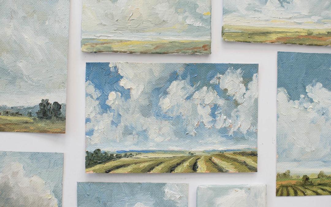 #happymailmovement giveaway no. 1 | mini oil paintings