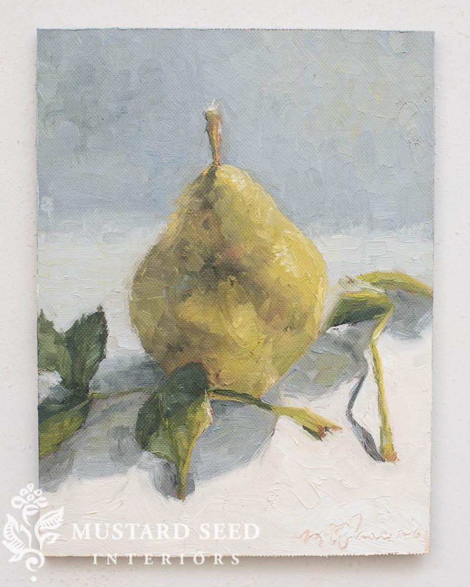 Still Life Pear | Miss Mustard Seed | www.missmustardseed.com