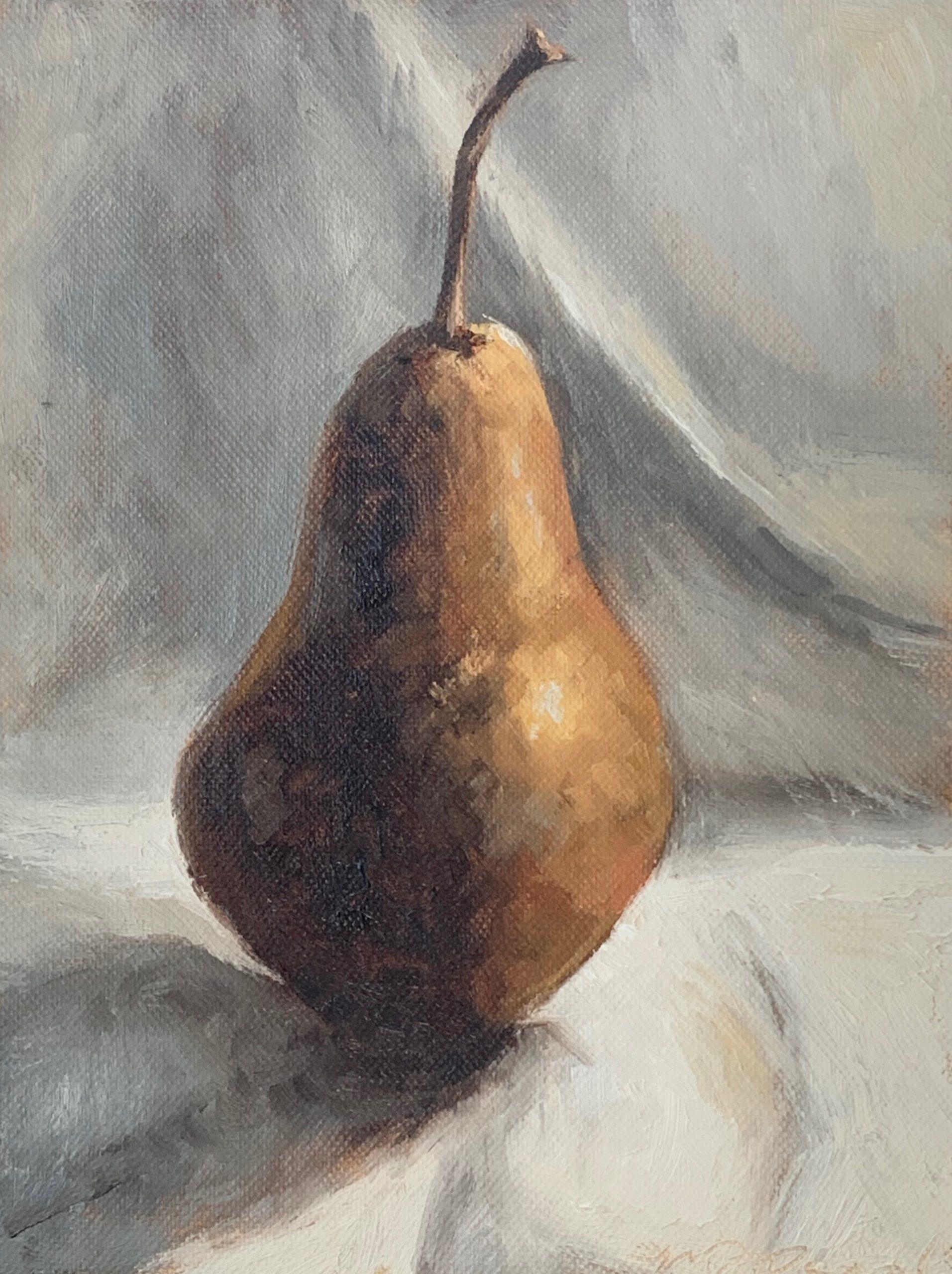 Live Painting Class | underpainting & tonal pear | miss mustard seed | www.missmustardseed.com