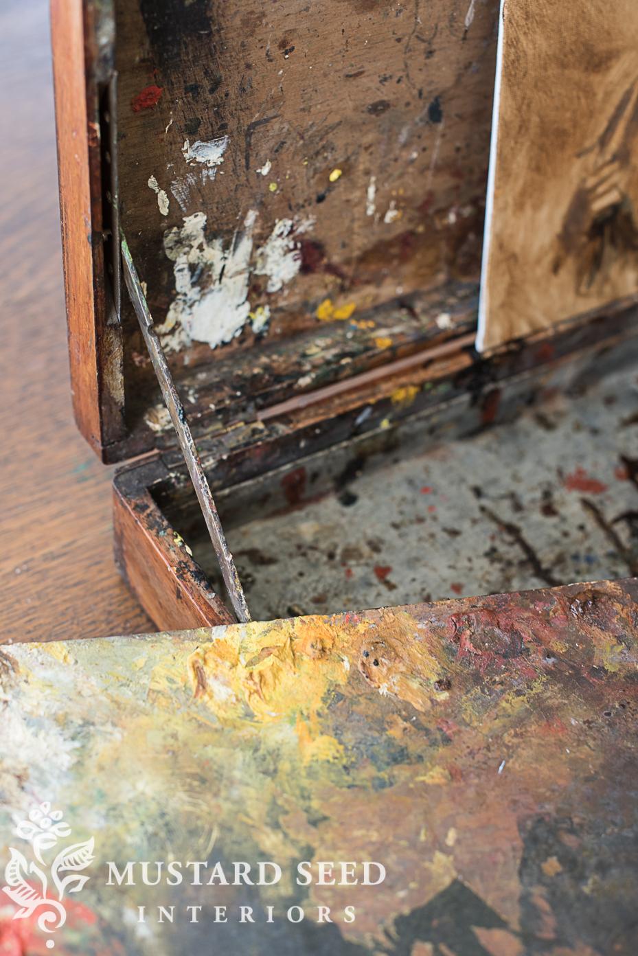 antique box miss mustard seed