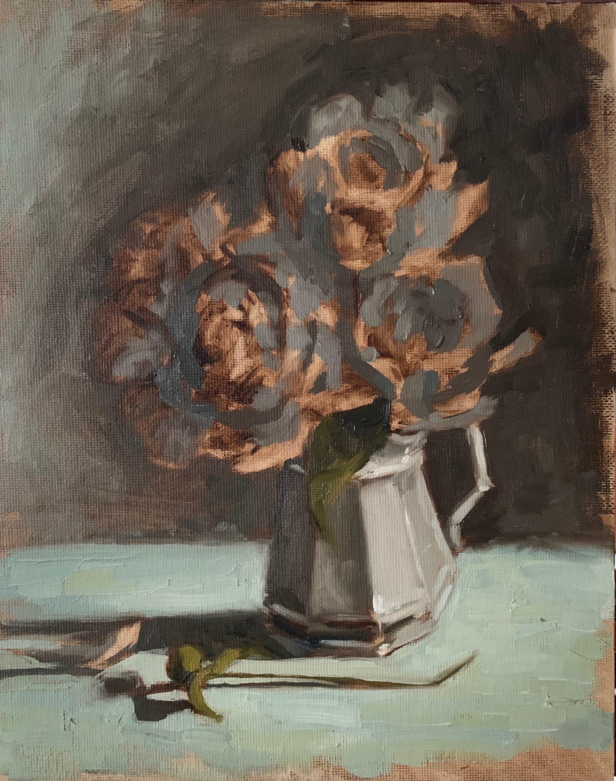 peonies oil painting miss mustard seed