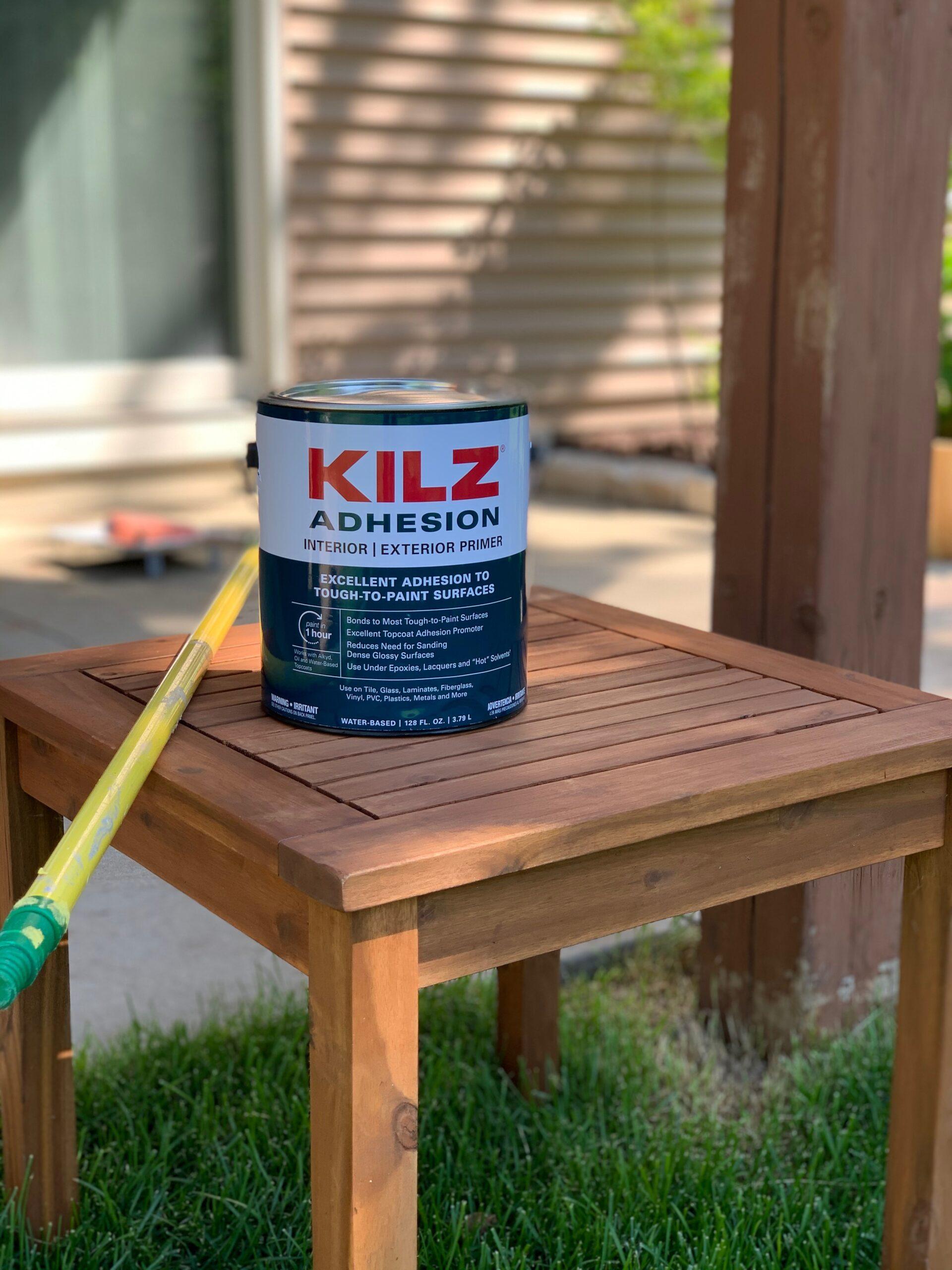 patio makeover miss mustard seed kilz adhesion primer