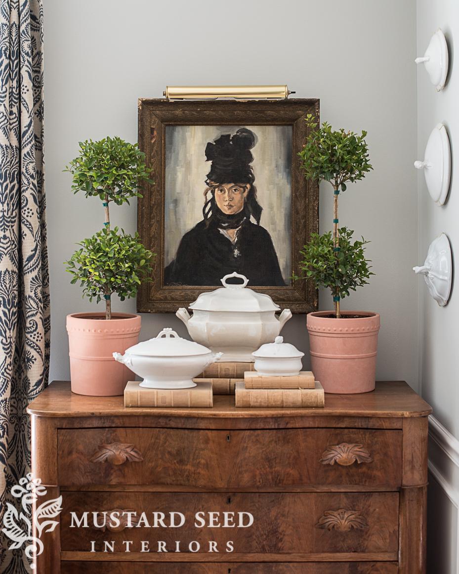 manet berte morisot copy painting topiaries styling miss mustard seed