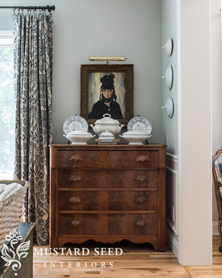 manet berte morisot copy painting styling antique wood dresser miss mustard seed