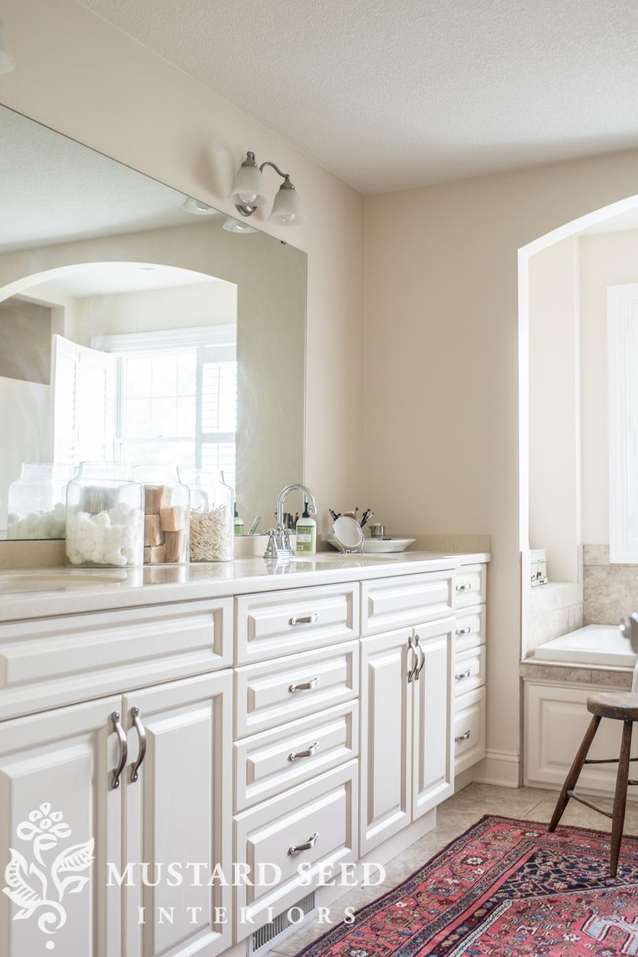 suburban master bathroom makeover miss mustard seed