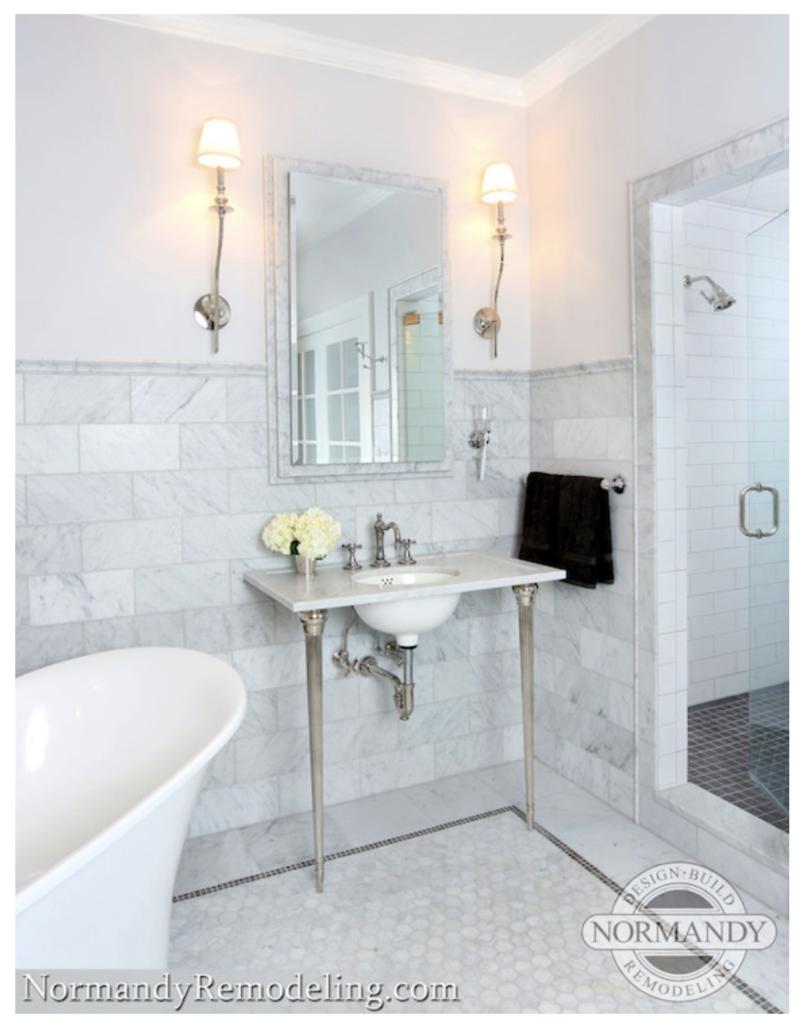 6 x 12 marble subway tile bathroom normandy remodeling miss mustard seed