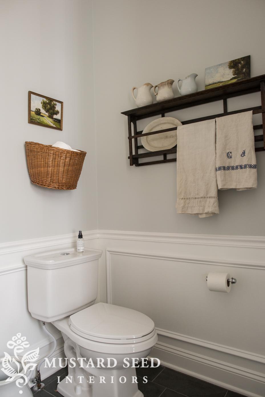 half bathroom makeover miss mustard seed stonington gray