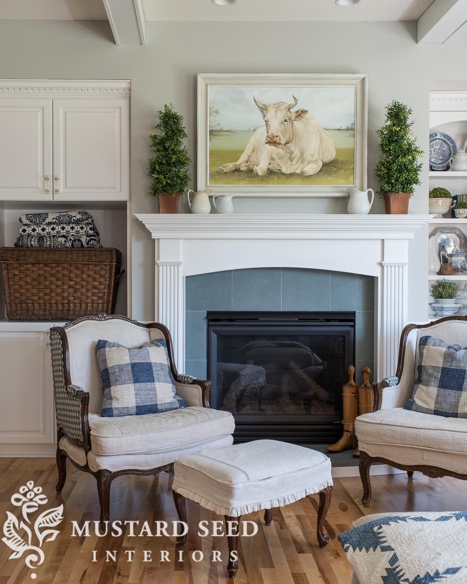 painted granite fireplace surround to look like slate | miss mustard seed