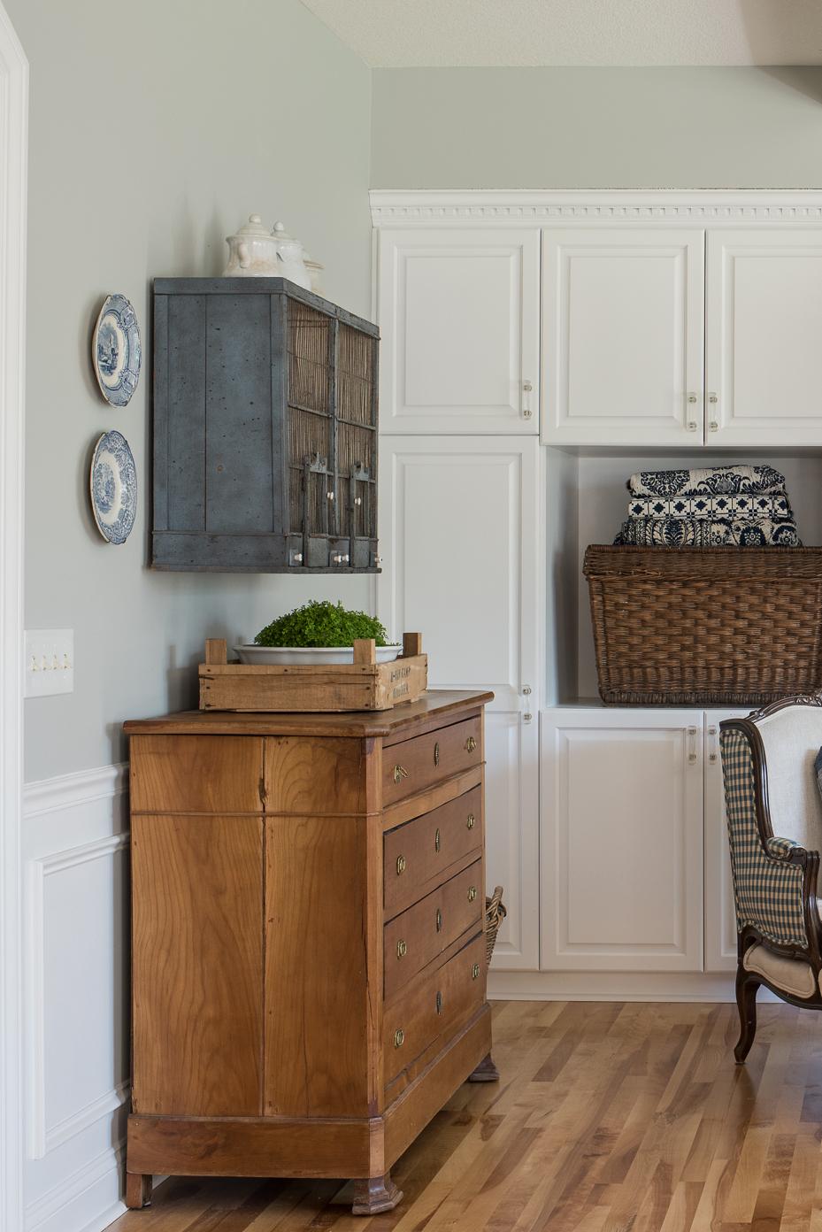 antique pine dresser   miss mustard seed   stonington gray