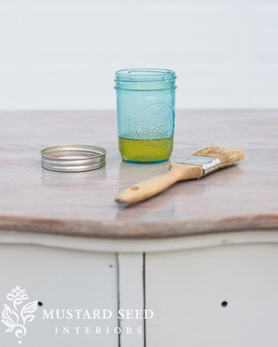milk painted dresser makeover  hemp oil   miss mustard seed