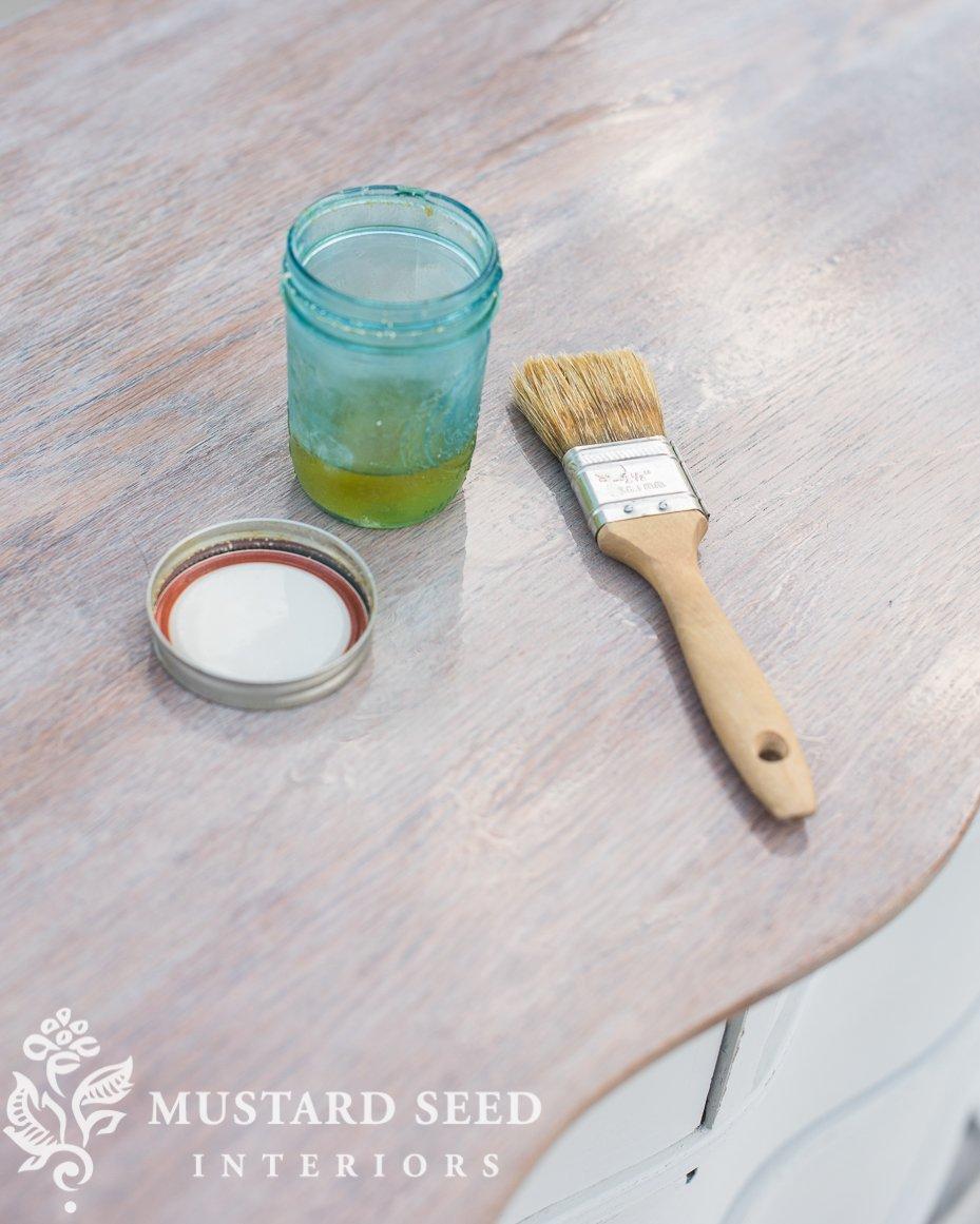milk painted dresser makeover   white wash   hemp oil finish   miss mustard seed