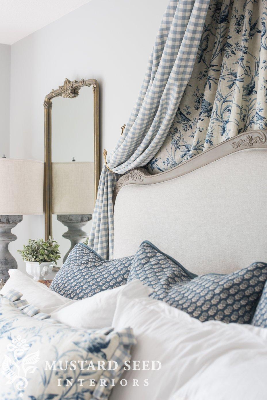 bed crown | bedroom decorating | stonington gray | miss mustard seed