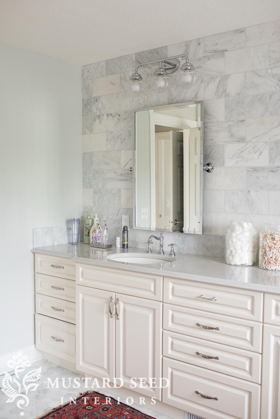 suburban master bathroom makeover | miss mustard seed
