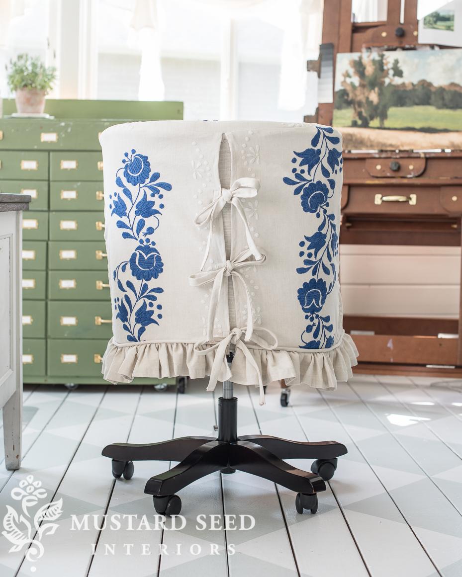 studio chair slipcover | miss mustard seed