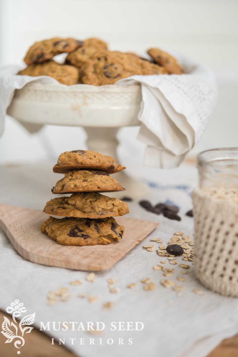 chocolate chip pumpkin cookies | miss mustard seed