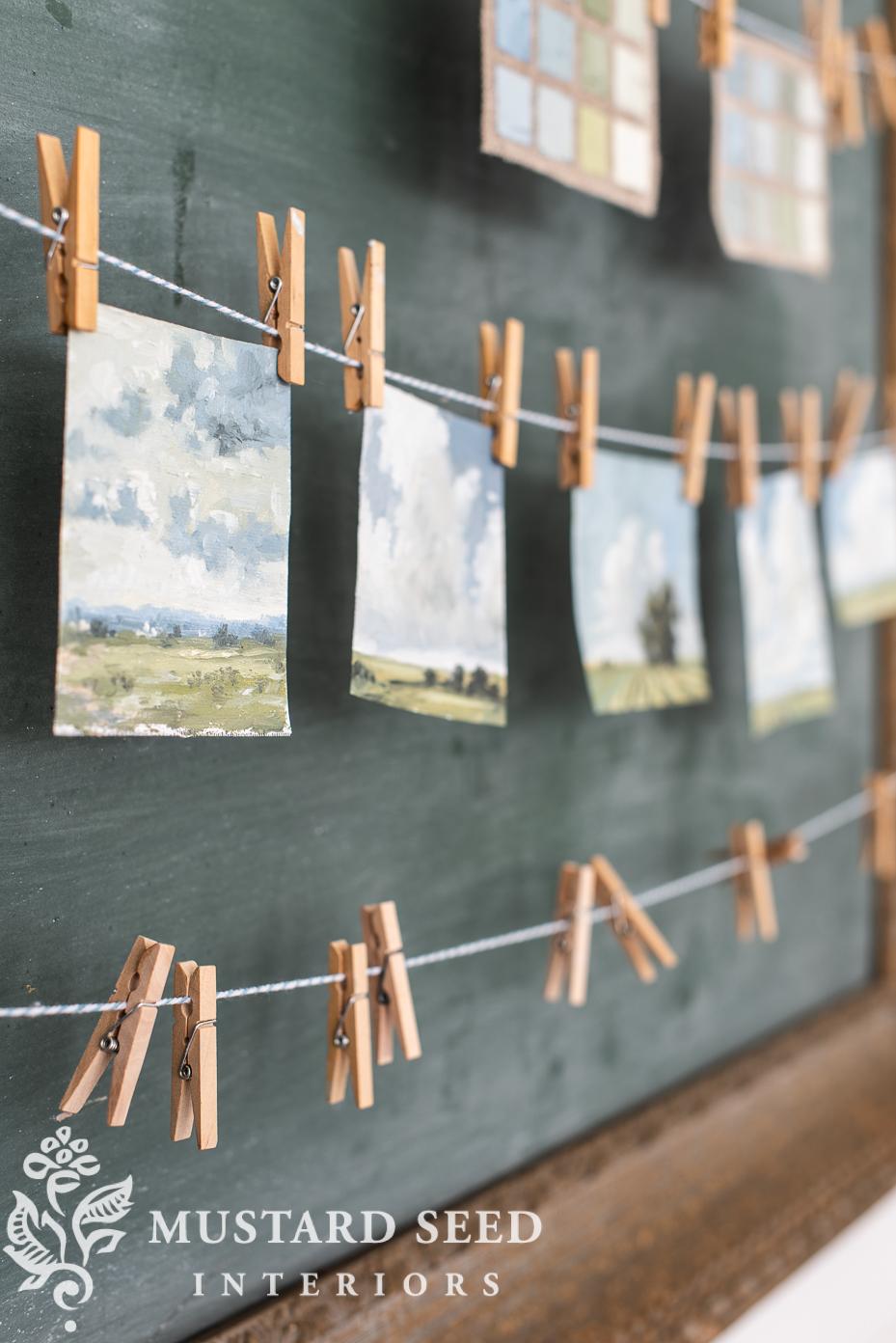 original mini landscape oil paintings | miss mustard seed