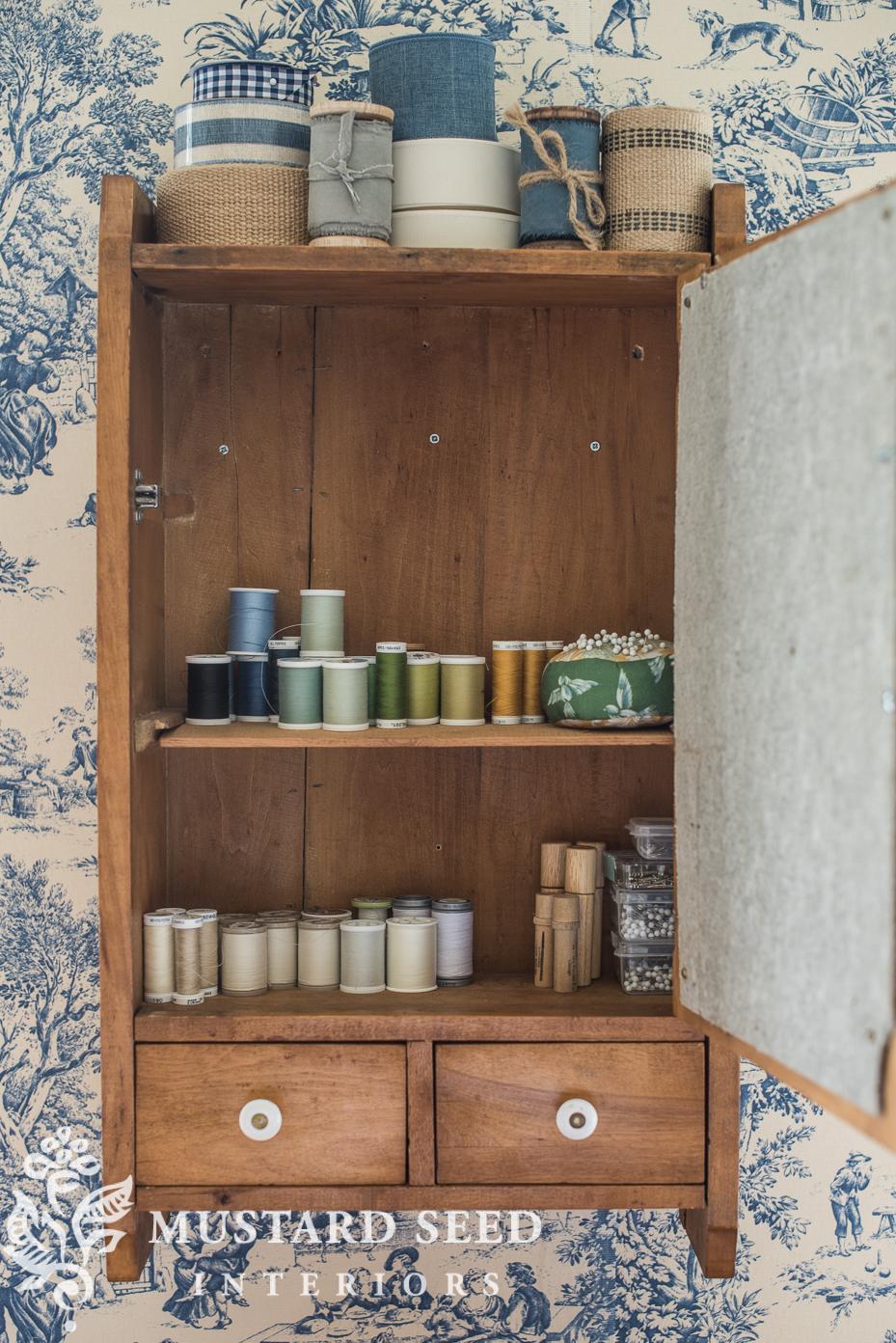 sewing room organization | miss mustard seed