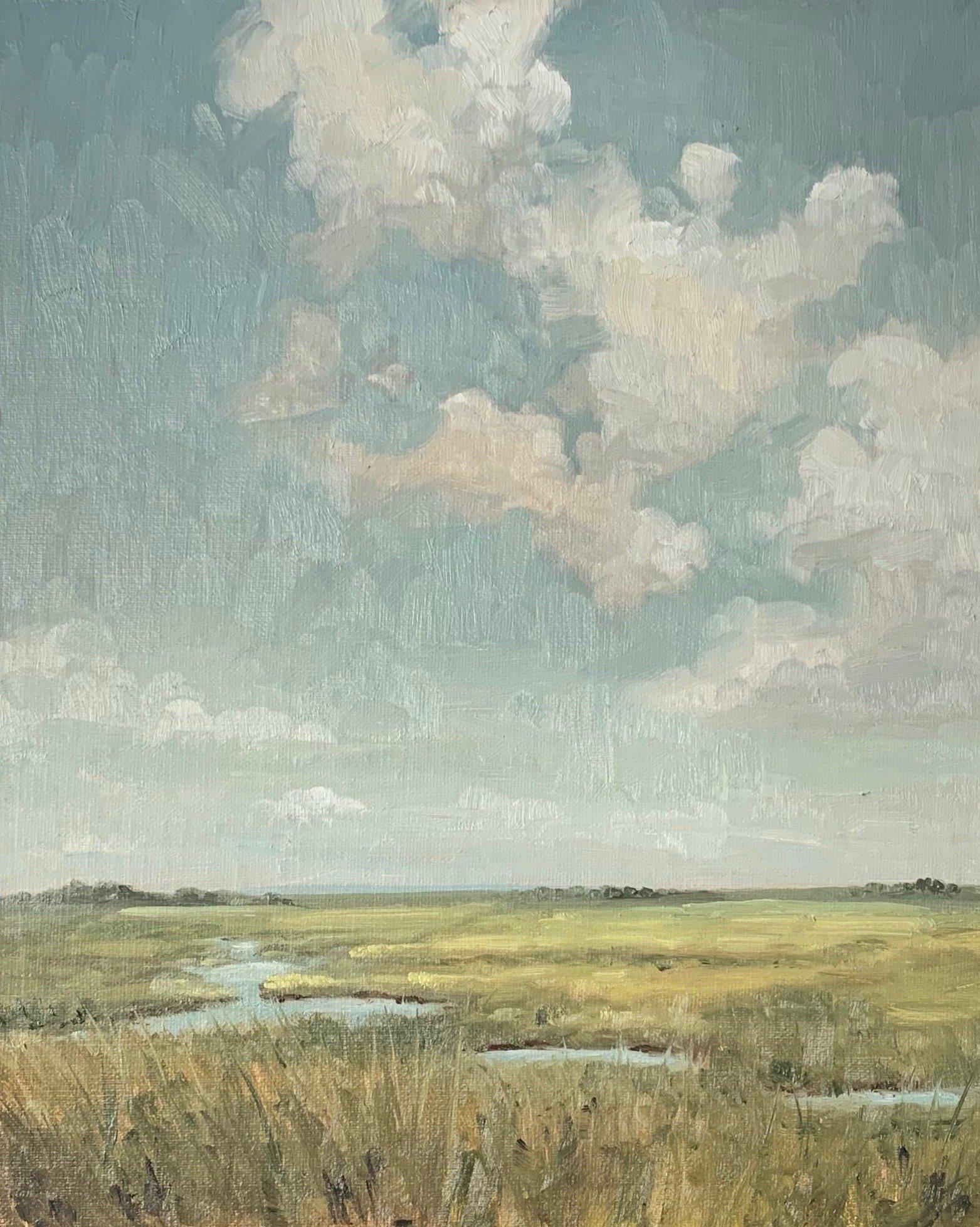 impressionist landscape | marsh painting | miss mustard seed
