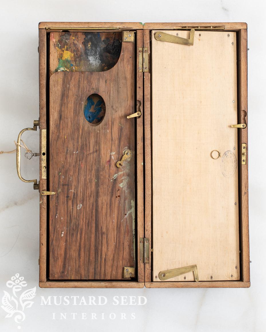 antique French artist pochade box | miss mustard seed
