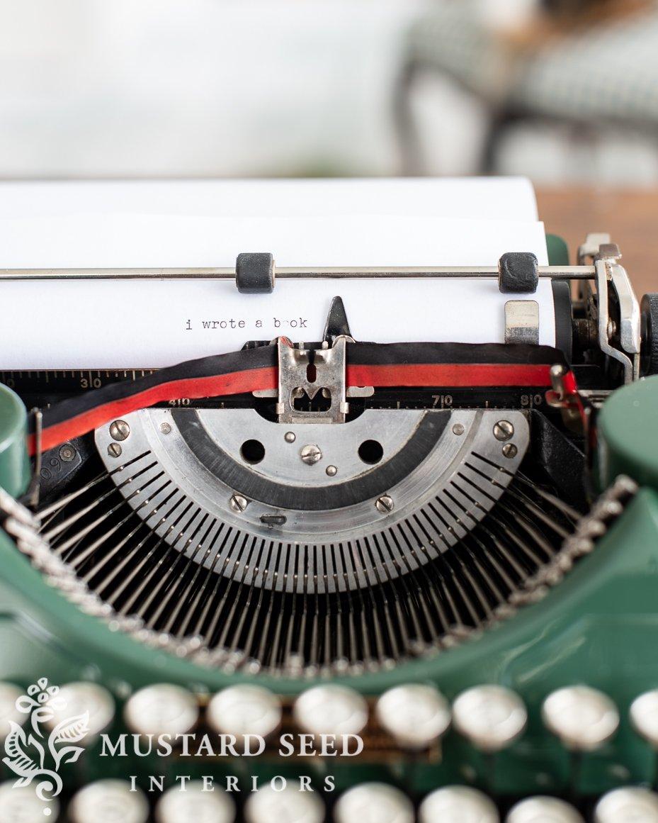 1932 green underwood typewriter | miss mustard seed
